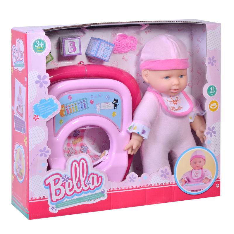 Papusa bebelus interactiv Bella, 38 cm, premergator inclus 2021 shopu.ro