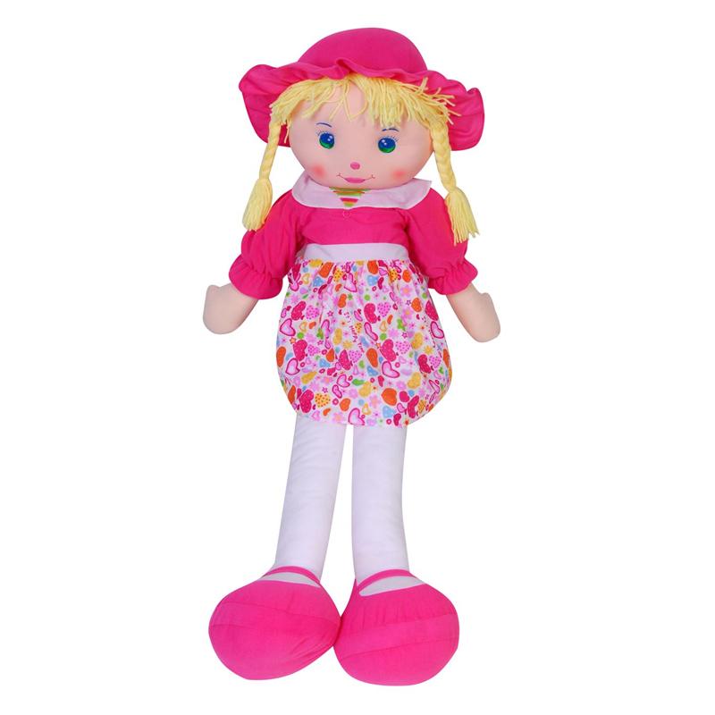 Papusa din material textil My Doll, Roz 2021 shopu.ro