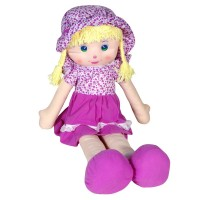 Papusa din material textil My Doll, 85 cm, Mov