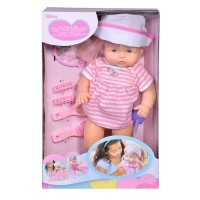 Papusa interactiva Baby Doll cu palarie si rochie roz, 3 ani+
