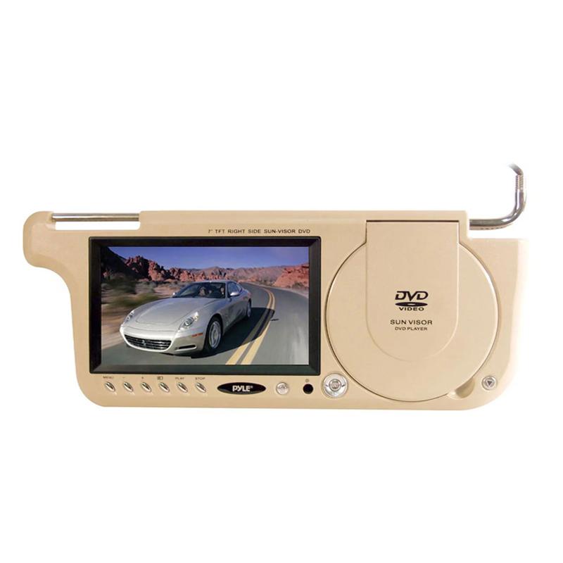 Parasolar cu DVD si monitor, 15 W, 7 inch, sistem PAL/NTSC