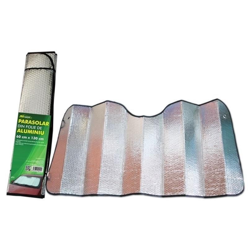 Parasolar folie aluminiu 2 fete, 60 cm x 130 cm 2021 shopu.ro