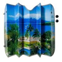 Parasolar geam auto, 130 x 60, model plaja