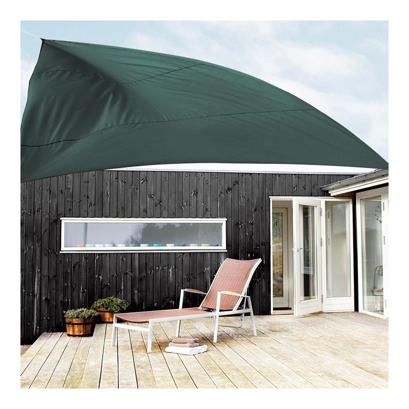 Parasolar pentru terasa, 360 cm, poliester, Verde shopu.ro