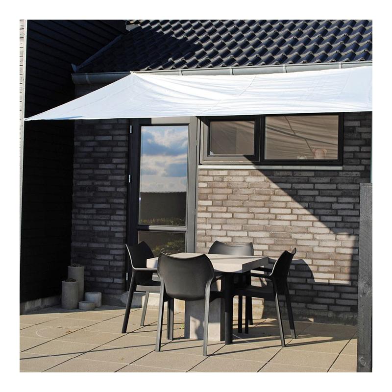 Parasolar pentru terasa, 250 x 300 cm, poliester, Alb 2021 shopu.ro