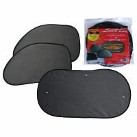 Parasolare luneta si geamuri laterale-spate, negru, 3 bucati