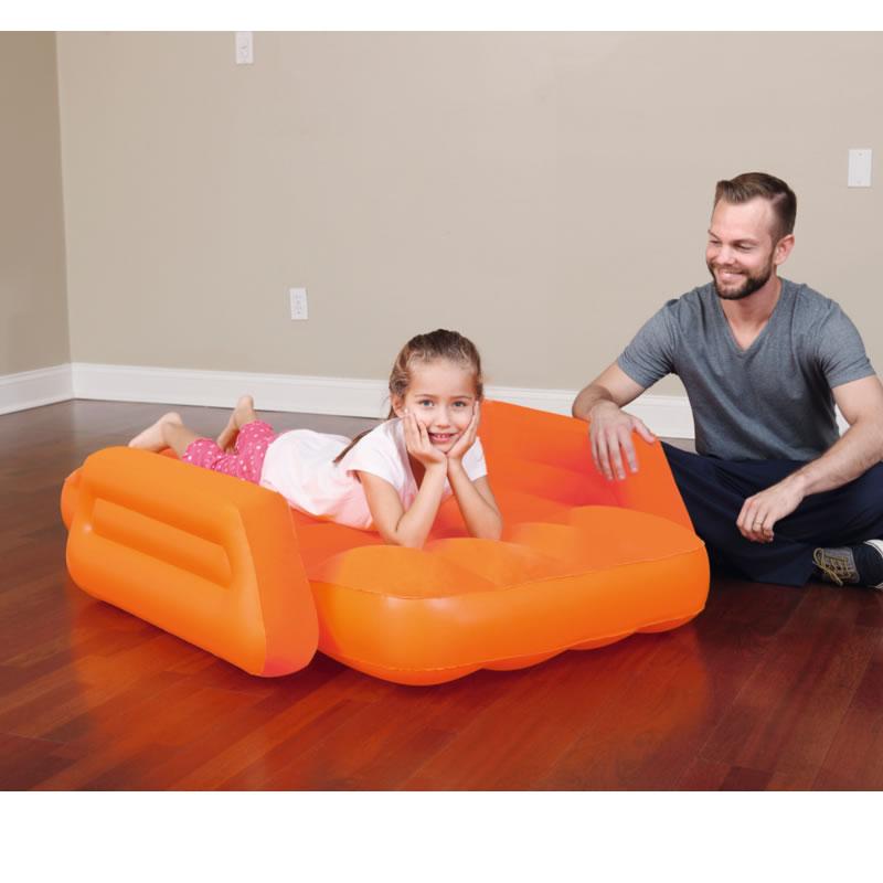 Pat gonflabil pentru copii Bestway, 145 x 76 x 18 cm, portocaliu