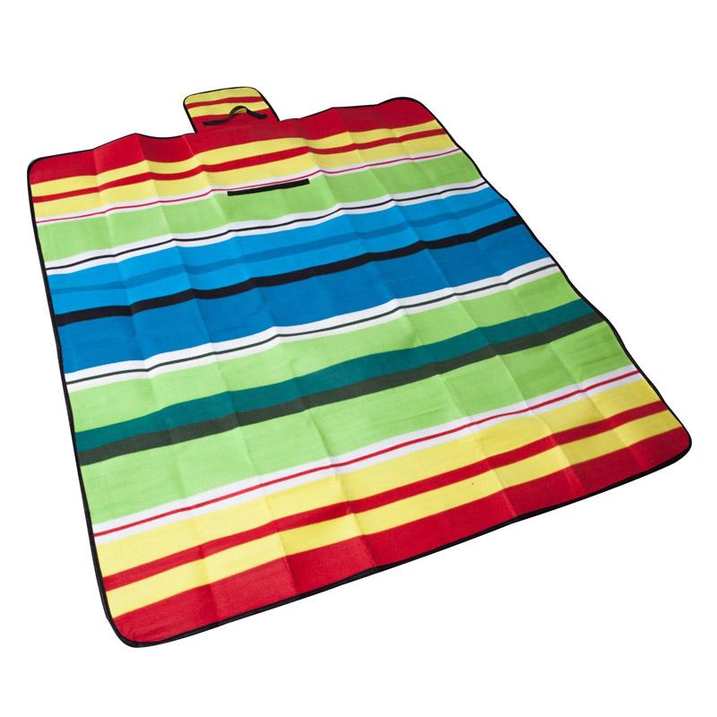 Patura Fleece Maxtar pentru picnic, 150 x 135 cm, Multicolor shopu.ro
