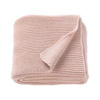 Patura acril tricotata single, 170 x 130 cm, roz