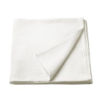 Patura single din bumbac tesut, 150 x 230 cm, alb