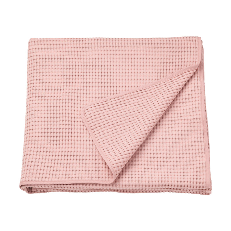 Patura bumbac single, 150 x 250 cm, roz shopu.ro