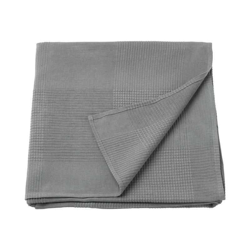 Patura single din bumbac tesut, 150 x 230 cm, gri shopu.ro