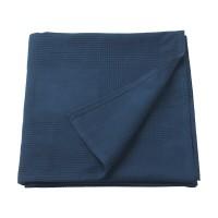 Patura single din bumbac tesut, 150 x 230 cm, albastru