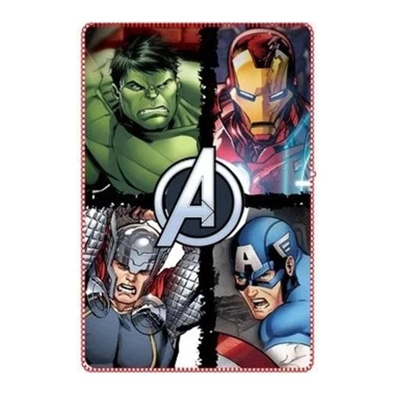 Paturica moale Avengers SunCity, 100 x 150 cm, poliester, Multicolor 2021 shopu.ro