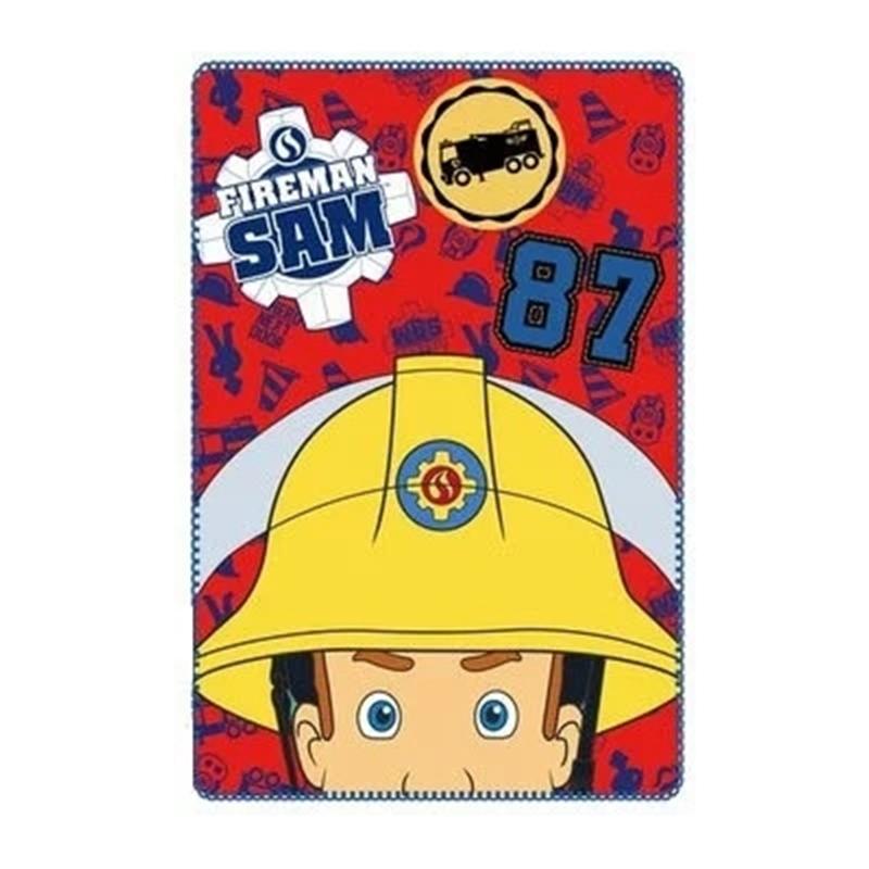 Paturica moale Pompierul Sam SunCity, 100 x 150 cm, poliester, Multicolor 2021 shopu.ro