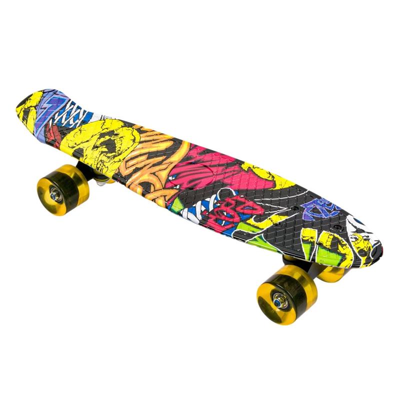 Penny board copii Grafitty, 56 x 14 cm, roti silicon 2021 shopu.ro