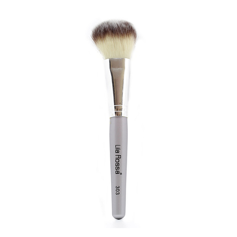 Pensula make-up Lila Rossa, 2 x 18 cm, maner lemn, peri naturali 2021 shopu.ro