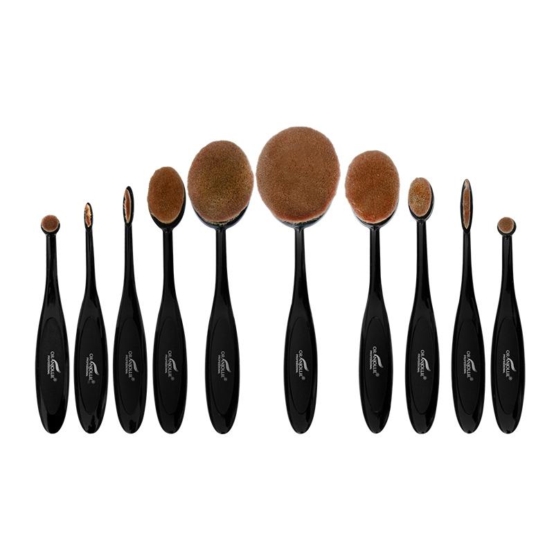 Set pensule pentru texturi cremoase Beauty Gold, 10 dimensiuni, tip perie 2021 shopu.ro