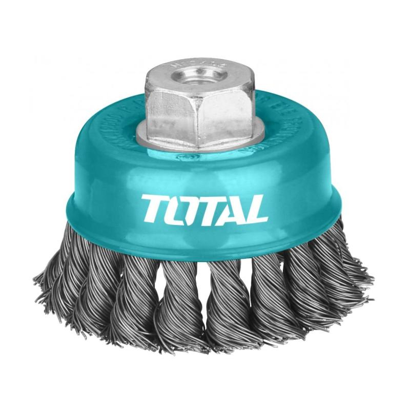 Perie sarma tip cupa Total, 100 mm, fir rasucit 2021 shopu.ro