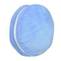 Perna decorativa, 43 x 13 cm, forma macarons, albastru