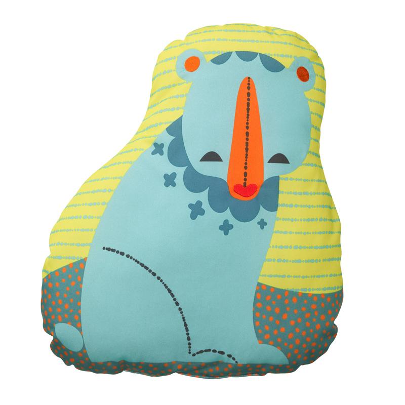 Perna pentru copii, 47 x 49 cm, poliester, model urs 2021 shopu.ro