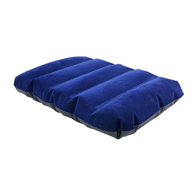 Perna gonflabila, 43 x 28 x 9 cm, vinil, invelis velur, Albastru 2021 shopu.ro