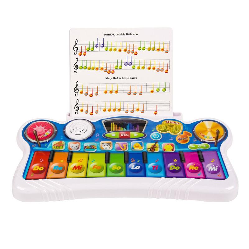 Pian interactiv, 30 melodii, 33 x 17 x 2 cm, Multicolor