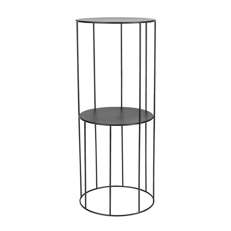 Piedestal, 25 x 60 cm, metal, Negru shopu.ro