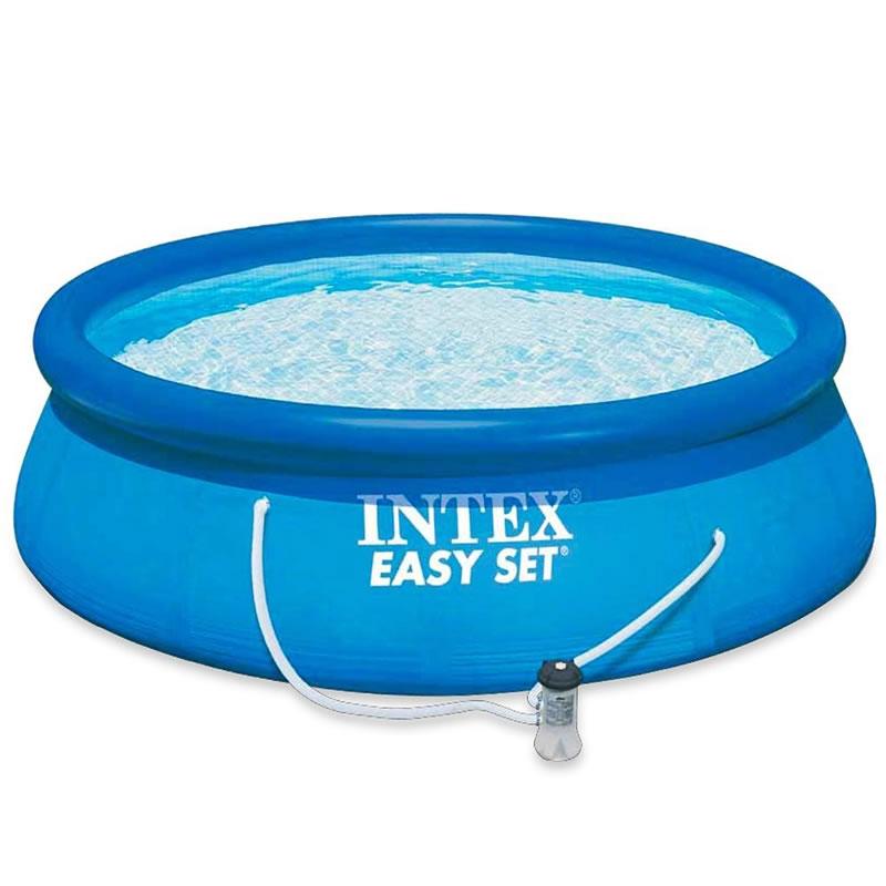 Piscina Easy Set Intex, 305 x 76 cm, pompa filtrare apa inclusa 2021 shopu.ro