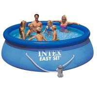 Piscina Easy Set Intex, 396 x 84 cm, pompa de filtrare
