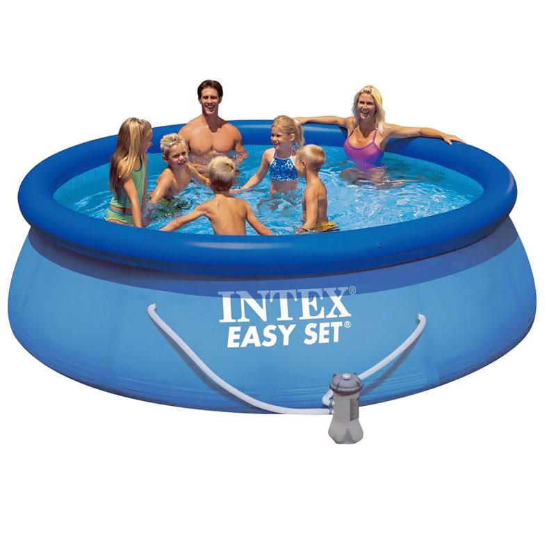 Piscina easy set intex 396 x 84 cm pompa de filtrare ieftin vezi pret shopu black friday - Pompa piscina intex ...