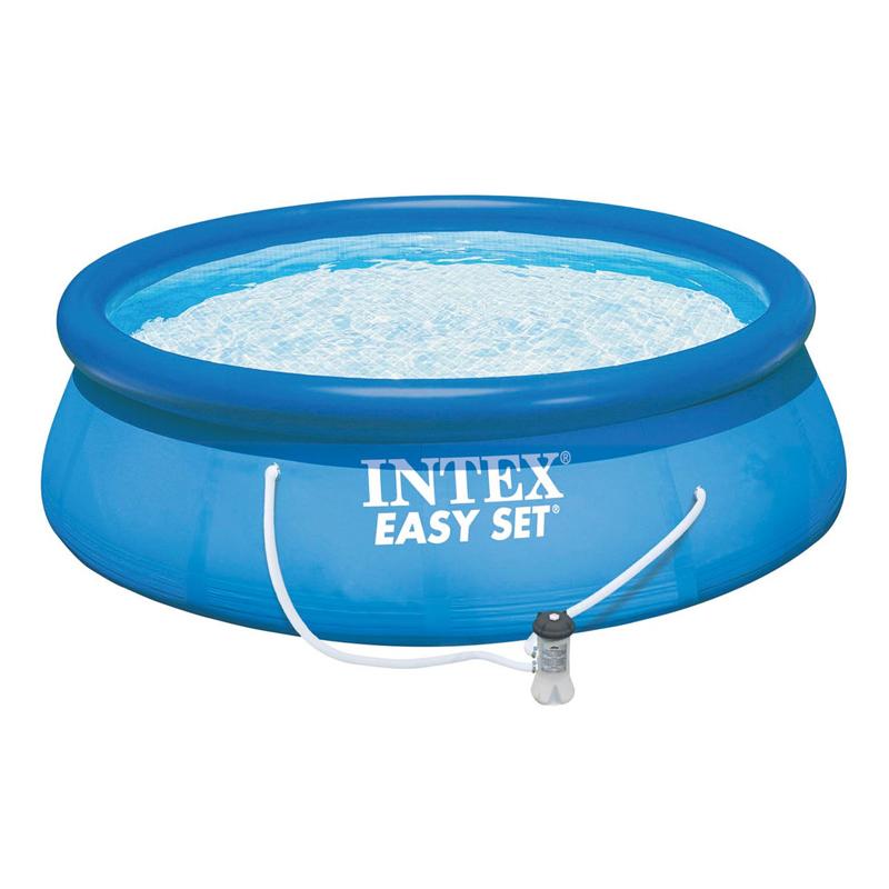 Piscina gonflabila Easy Set Intex, 305 x 76 cm, 3853 l, pompa filtrare apa inclusa 2021 shopu.ro