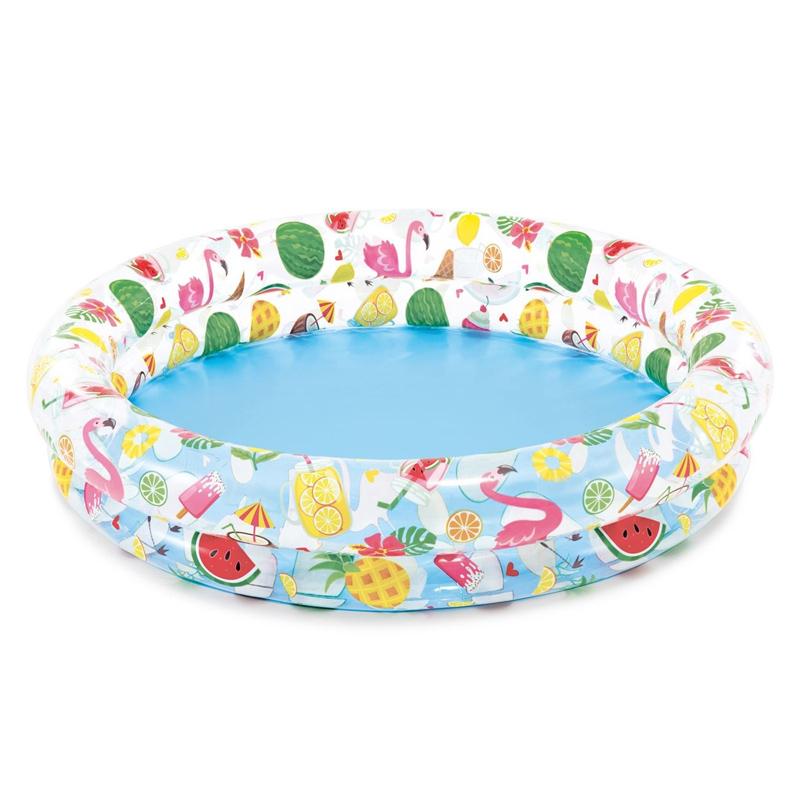 Piscina gonflabila pentru copii Intex Fancy Flamingo, 122 x 25 cm, 1 an + 2021 shopu.ro