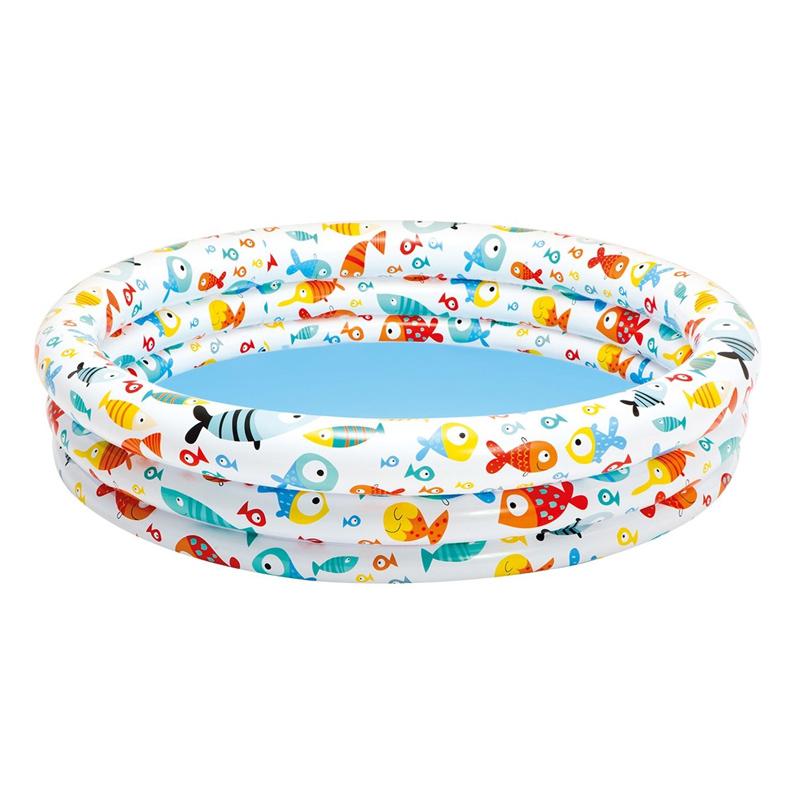 Piscina gonflabila pentru copii Intex Fancy Fish, 132 x 28 cm, 1 an + 2021 shopu.ro