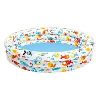 Piscina gonflabila pentru copii Intex Fancy Fish, 132 x 28 cm, 1 an +