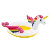 Piscina gonflabila pentru copii Intex, 272 x 193 x 104 cm, model unicorn