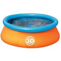 Piscina pentru copii 3D, 213.5 x 213.5 x 66 cm