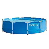 Piscina rotunda Intex, 305 x 76 cm, cadru metalic