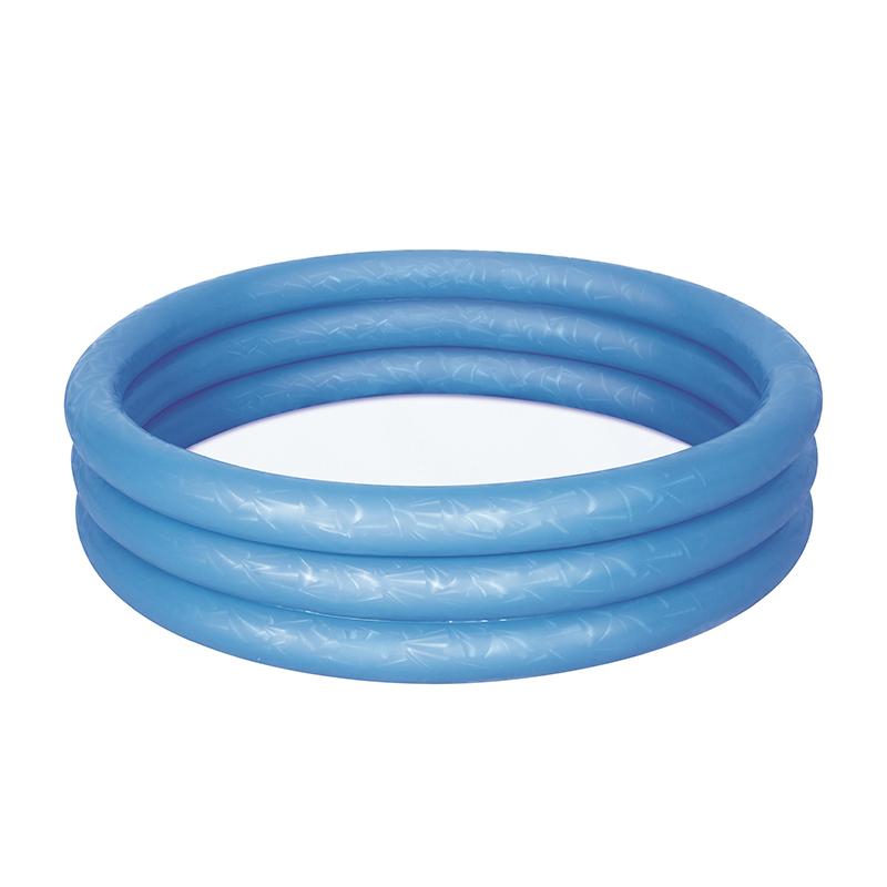 Piscina gonflabila cu cercuri Bestway, 102 x 25 cm, 101 l, vinil, Albastru 2021 shopu.ro