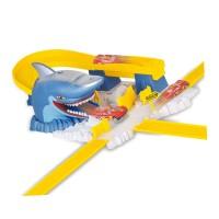 Pista curse cu tunel tip rechin, 27 piese, masina inclusa