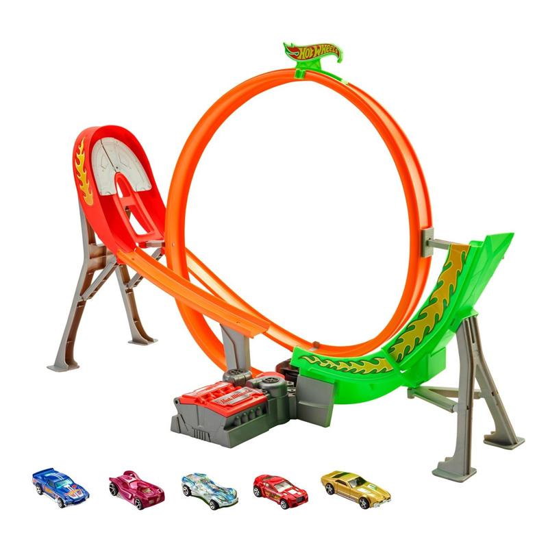 Pista pentru masinute Hot Wheels, 5 masinute, 5 ani+ 2021 shopu.ro