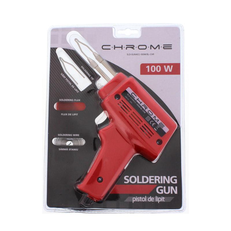 Pistol de lipit Chrome, putere 100 W, accesorii incluse shopu.ro
