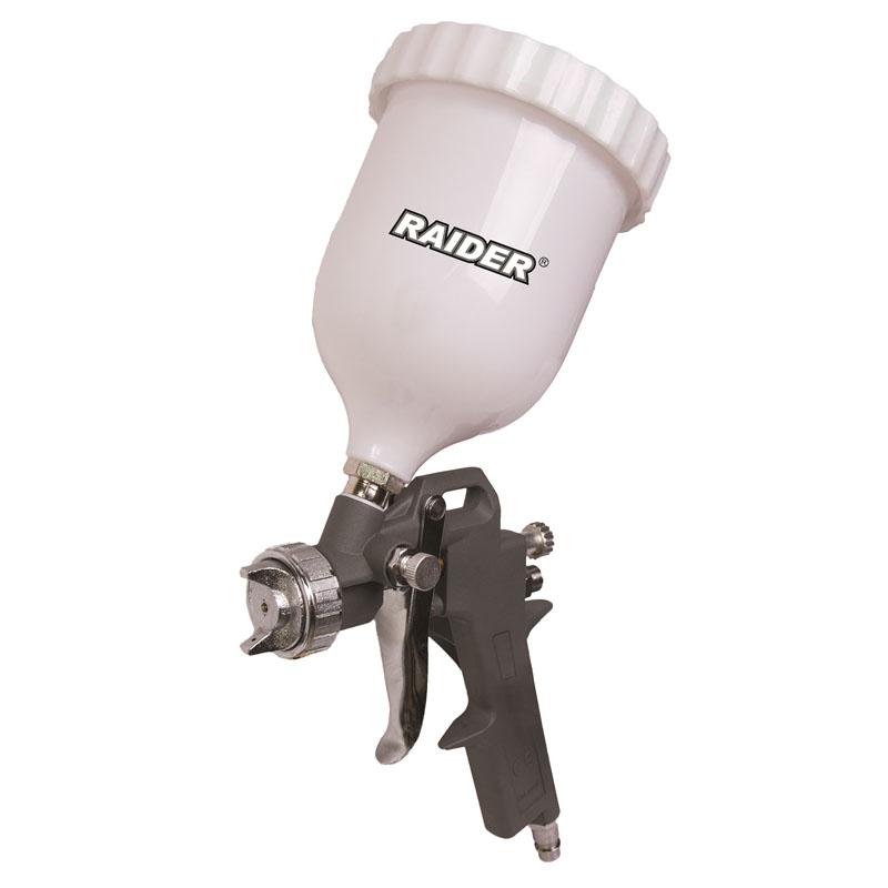 Pistol de vopsit Raider, presiune 0.3/0.4 Mpa, 600 ml, duza 1.5 mm 2021 shopu.ro