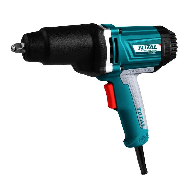 Pistol electric de impact Total, 1050 W, 2300 rpm, 6 x cheie tubulara, adaptor inclus shopu.ro