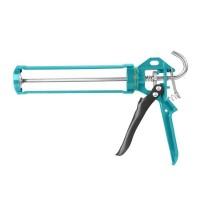 Pistol de lipit cu silicon Total, 9 inch, 235 mm, functie rotativa, maner aluminiu