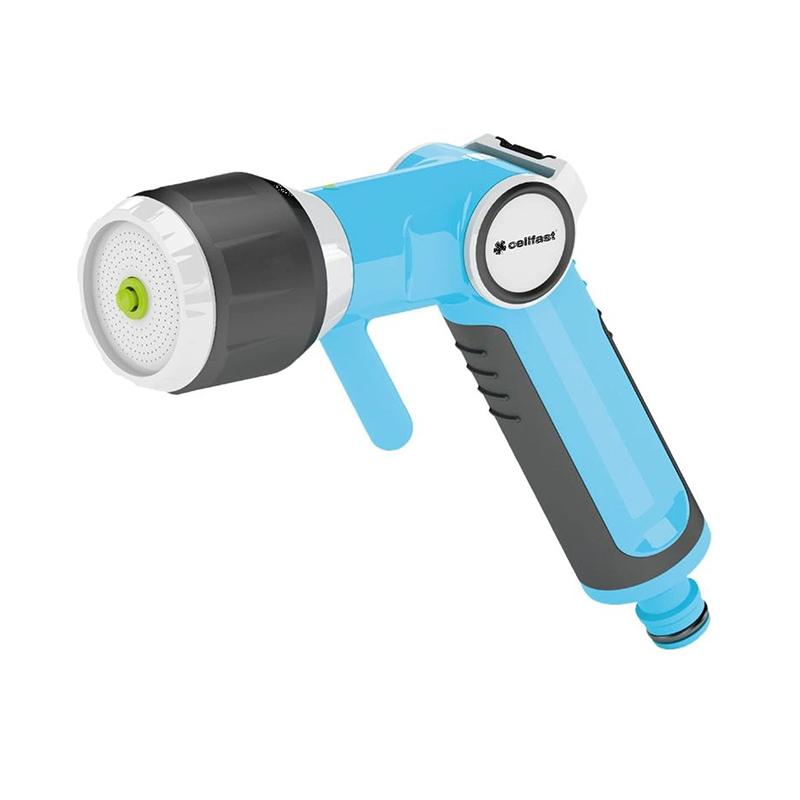 Pistol pentru stropit multifunctional Ergo CellFast, 12.5-19 mm, maner ergonomic, Albastru/Negru 2021 shopu.ro