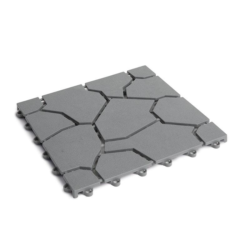 Placi paviment pentru gradini Garden of Eden, 29 x 29 x 1.5 cm, plastic, maxim 100 kg, model piatra naturala, Gri shopu.ro