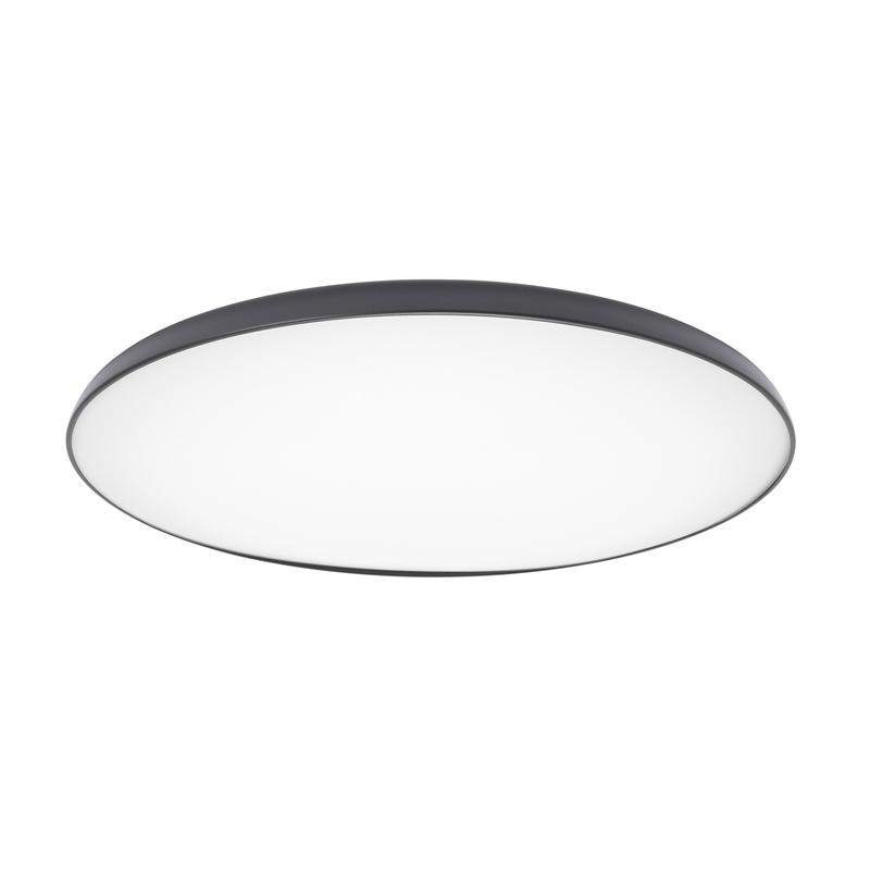 Plafoniera LED, 28 W, inaltime 8 cm, diametru 45 cm, Alb/Negru