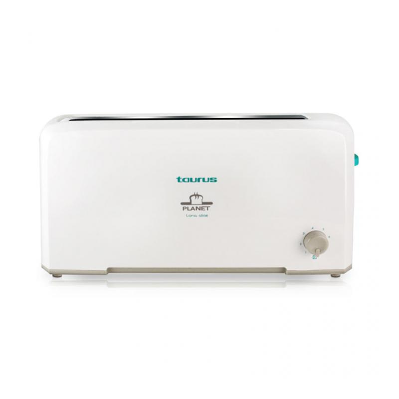 Prajitor de paine Planet Taurus, 2 felii, 800 W, 7 trepte, termostat, Alb 2021 shopu.ro