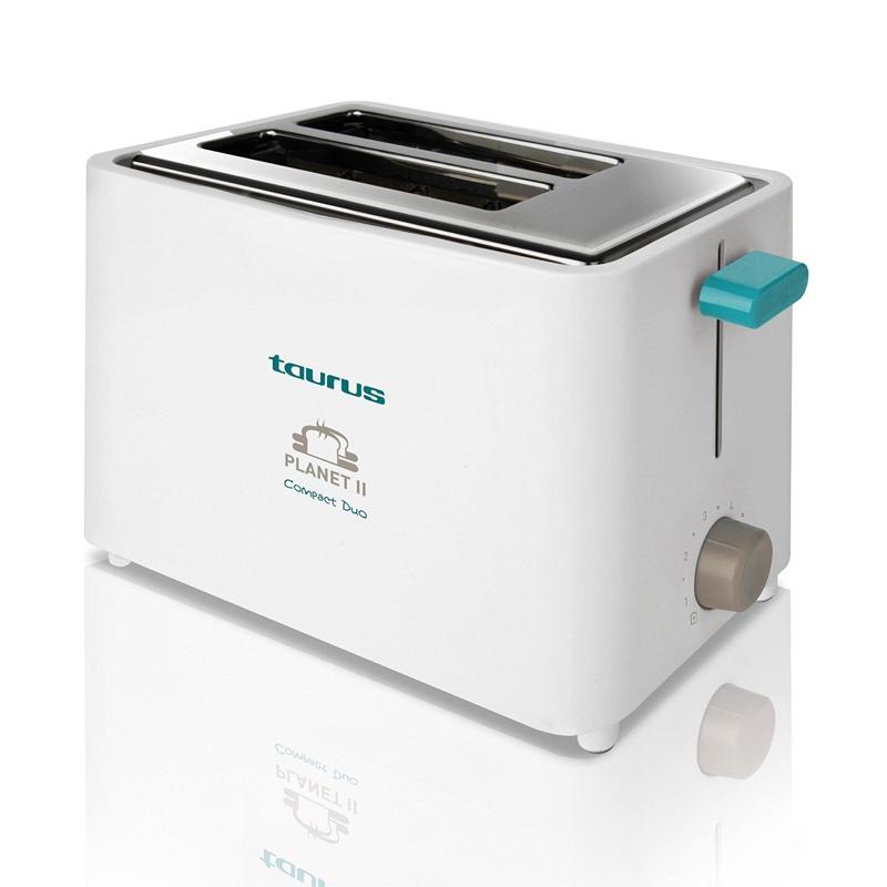 Prajitor de paine Planet II Taurus, 2 felii, 750 W, termostat, Alb 2021 shopu.ro